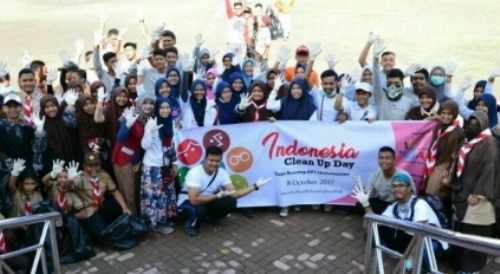 Indonesia Clean Up Day, Aksi Bebas Sampah Muda Mudi Lhokseumawe