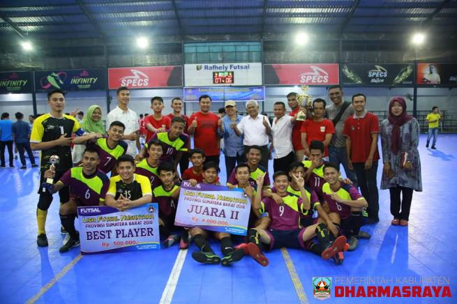Dilaga Final, Dharmasraya Runner Up Liga Futsal Nusantara 2018